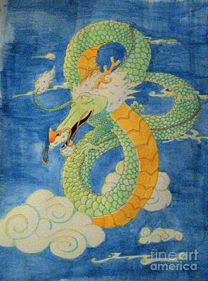 Poster featuring the painting Far East Wind Rider by Wendy Coulson