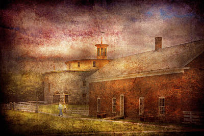 Farm - Barn - Shaker Barn  Poster by Mike Savad