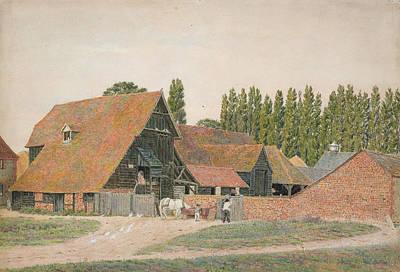 Farm Buildings, Dorchester, Oxfordshire Poster