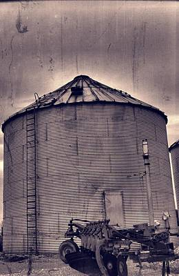 Farm Equipment And Silo Poster by Dan Sproul