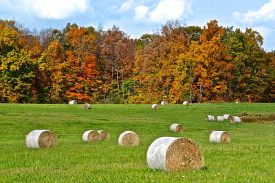 Farm Fresh Hay Poster by Frozen in Time Fine Art Photography