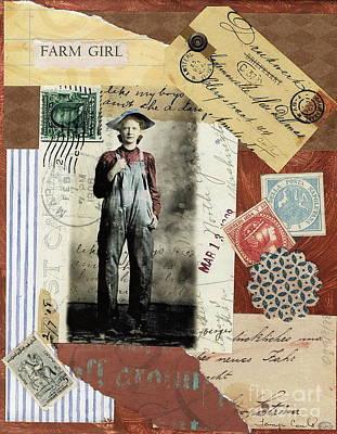 Farm Girl Poster by Tamyra Crossley