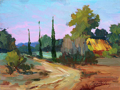 Farm In Provence Poster by Diane McClary