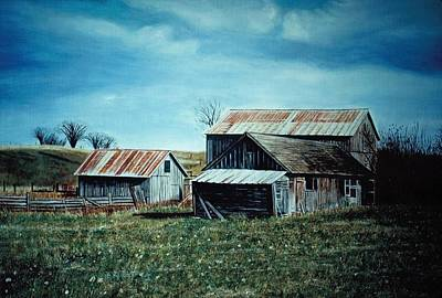 Farm Near Fenton Michigan Poster