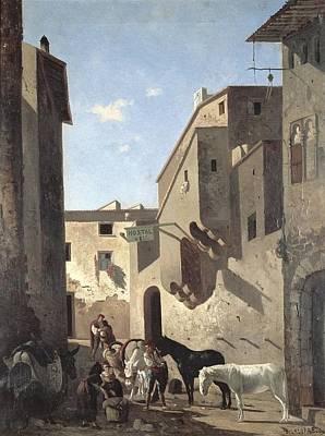 Farm Scene Hostal Vell. 1869 Poster by Everett