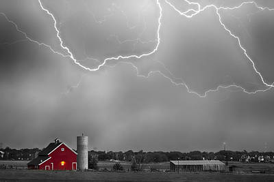 Farm Storm Hdr Bwsc Poster by James BO  Insogna