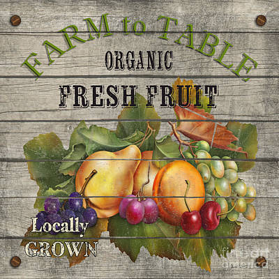Farm To Table Fruit-jp2631 Poster by Jean Plout