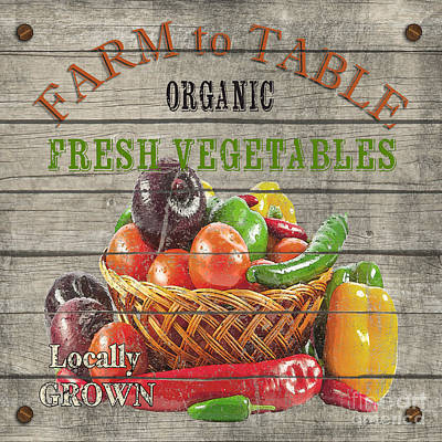 Farm To Table Vegetables-jp2632 Poster by Jean Plout