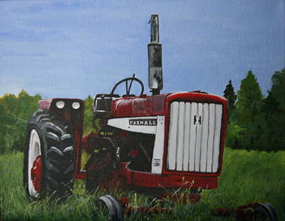 Farm Tractor Poster by Betty-Anne McDonald