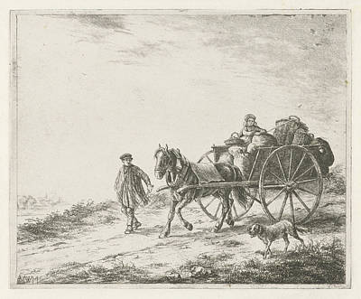 Farm Wagon With Load, Christiaan Wilhelmus Moorrees Poster by Christiaan Wilhelmus Moorrees