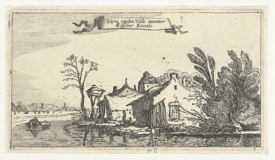 Farm With Dovecote On A River, Anonymous Poster by Artokoloro