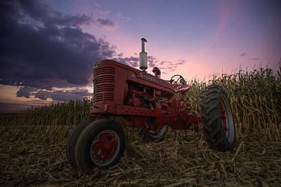 Farmall Sunset Poster by Aaron J Groen