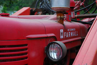 Farmall Tractor Poster by Ron Roberts