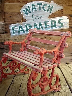 Farmer Bench Poster by Kerri Mortenson