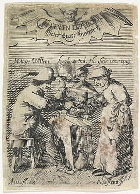 Farmers Around A Table, Reinhard Voskens Poster