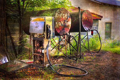 Farmer's Fuel Poster by Debra and Dave Vanderlaan