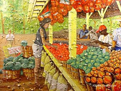 Farmers Market Poster by Maceo Rogers