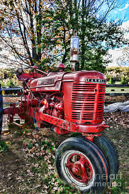 Farmers Tractor Poster by Paul Ward