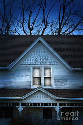 Farmhouse In The Evening Poster by Jill Battaglia