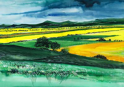 Farmland 1 Poster by Anil Nene
