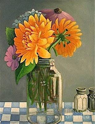 Farmstand Flowers Poster by Janet Bolton