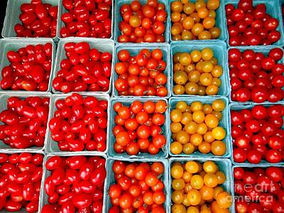 Farmstand Tomatos Poster by Ed Weidman