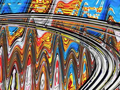 Poster featuring the digital art Highway To Nowhere Abstract by Gabriella Weninger - David