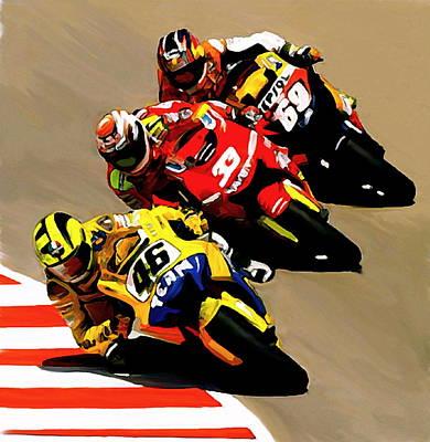 Faster  Valentino Rossi Poster