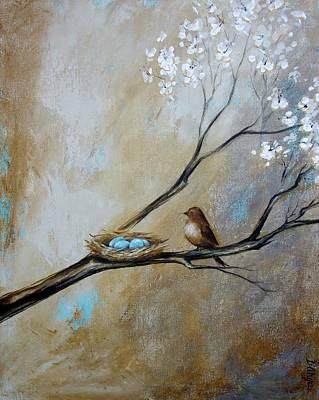 Fat Little Bird's Nest Poster by Dina Dargo