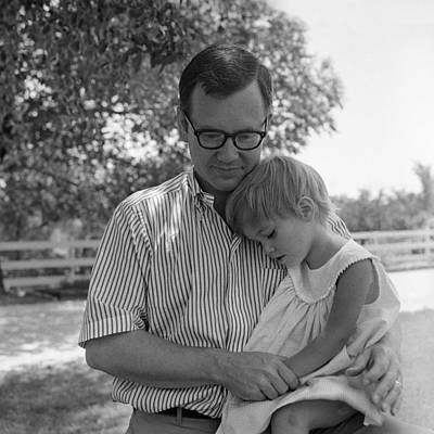 Father Comforting Young Daughter Poster by H. Armstrong Roberts/ClassicStock