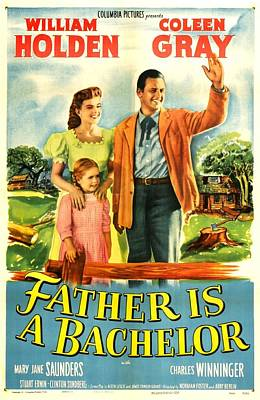 Father Is A Bachelor, Us Poster Poster by Everett