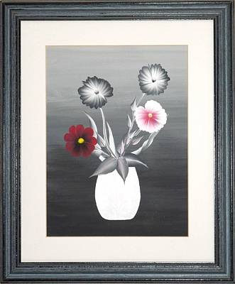 Faux Flowers II Poster by Ron Davidson
