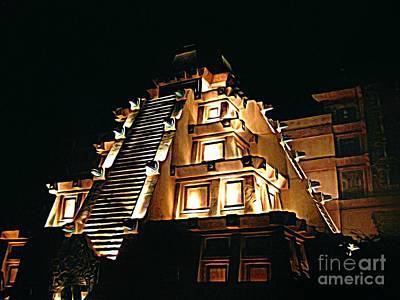 Faux Myan Pyramid Poster by John Malone