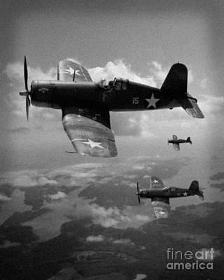 Faux Wwii Corsair Photo Poster by Stephen Roberson
