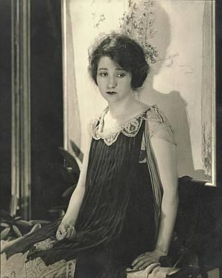 Fay Bainter Wearing A Dress Poster