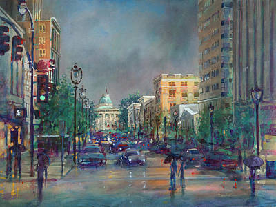 Fayetteville Street First Light Poster