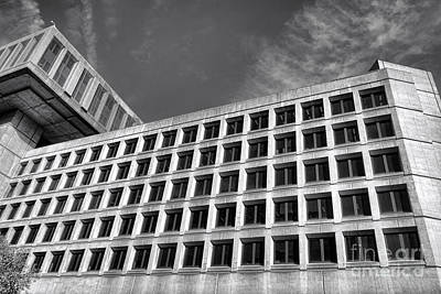 Fbi Building Side View Poster by Olivier Le Queinec