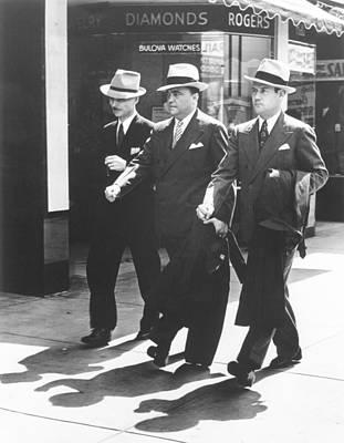 Fbi Trio In Miami. L-r Inspector E.j Poster