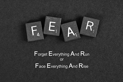 Fear Inspirational Quote Poster