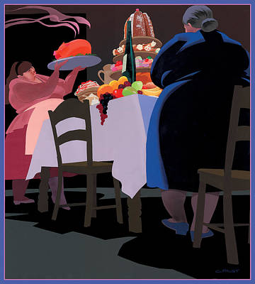 Feast Poster by Clifford Faust