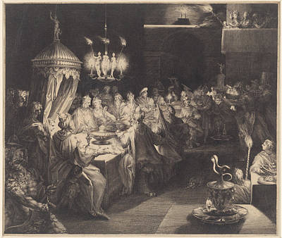 Feast Of Belshazzar Poster by Jan Harmensz. Muller