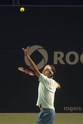 Federer's Serve Poster