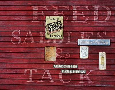 Feed And Tack Poster by Chrystyne Novack