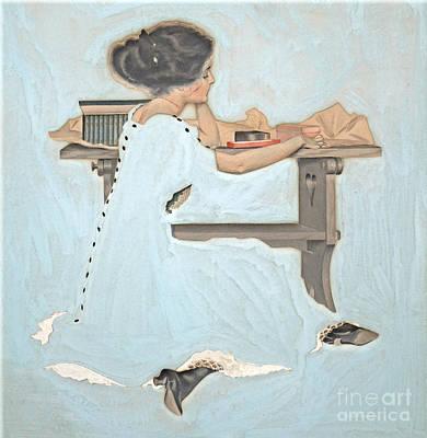 Feeling Blue 1910 Poster by Padre Art