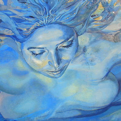 Poster featuring the photograph Feeling Blue by Ramona Johnston
