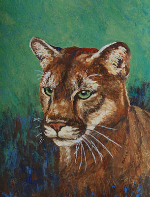 Poster featuring the painting Feline Alert by Margaret Saheed