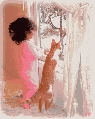 Feline Friend Poster