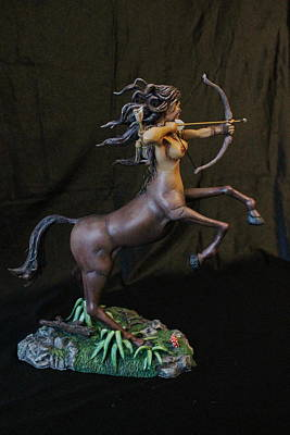 Female Centaur With Base Poster