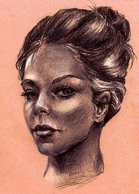 Female Face Poster by Dayi Tofu
