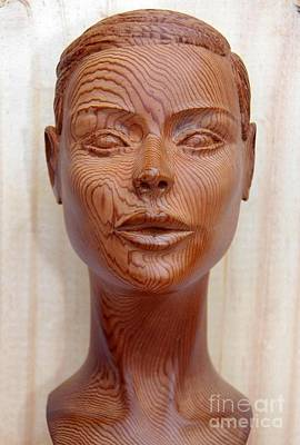 Female Head Bust - Front View Poster